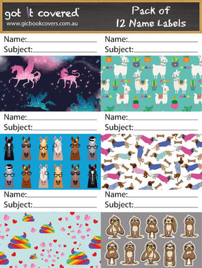 Name Labels Adhesive - Girls 2020