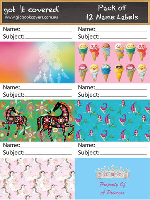 Name Labels Adhesive - Girls 2018