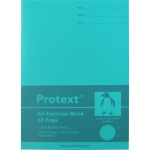 Protext A4 Year 2 Exercise Book - 48 Page