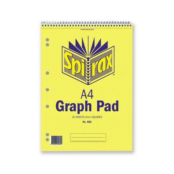 A4 Graph Pad 2mm - Spirax 582