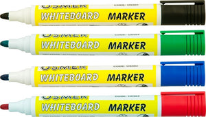 Whiteboard Marker - Bullet Tip (Assorted Colours)