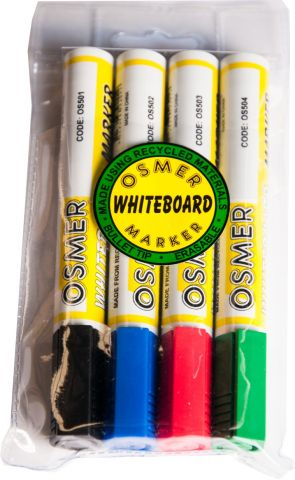 Whiteboard Markers - Bullet Tip - Wallet 4