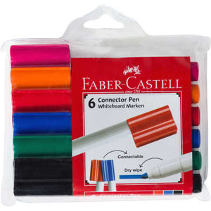 Whiteboard Marker - Bullet Tip - Faber Connectors 6 pack