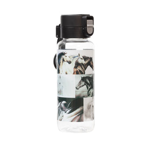 Water Bottle - B&W Horses