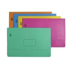 Document Wallet - F/C - CARDBOARD - BLUE / YELLOW