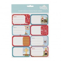 Name And Subject Label Stickers - Pixel