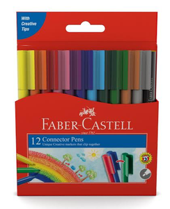 Felt Pens - Faber Connector - Pack 12