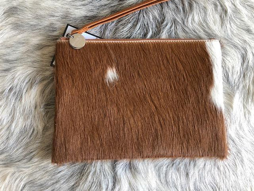Manny Leather Clutch Medium