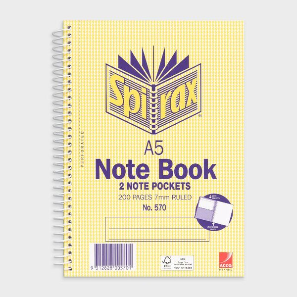 Notebook A5 - Spirax - 200 page