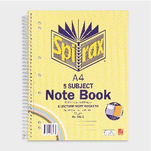 5 Subject Notebook A4 - Spirax 596C - 250 Page