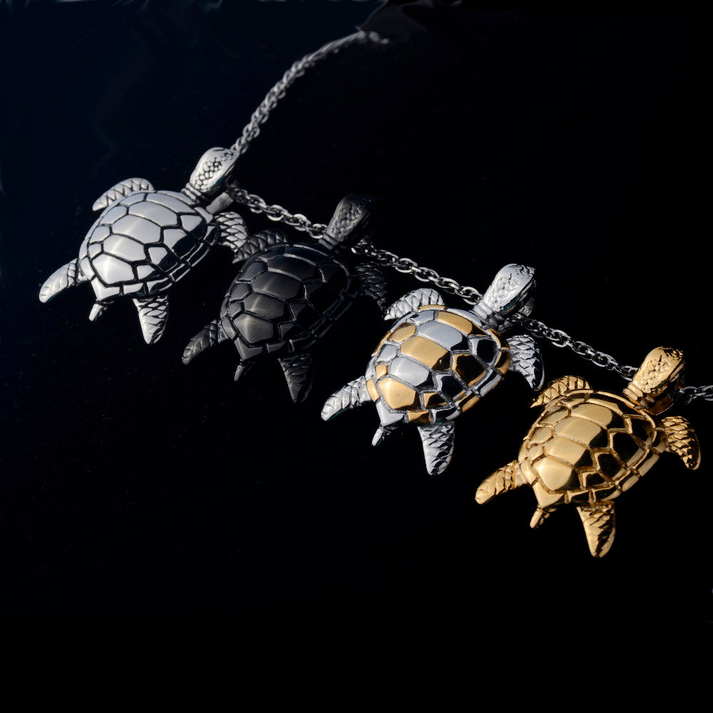 limited edition gold silver black sea turtle pendant limited edition gold silver black sea turtle pendant necklace aloadofball Gallery