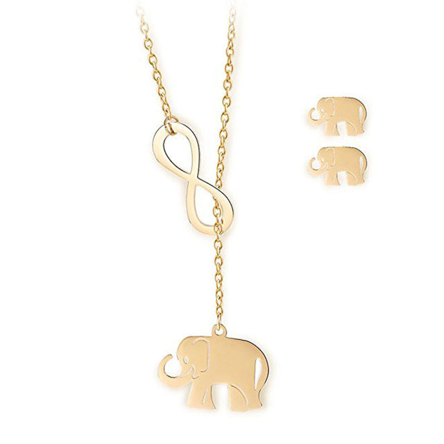 animal necklace quality pendant chain sterling opal elephant neck cute pink charm item for choker silver