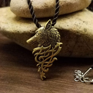 Wolf pendants and necklaces tagged wolf great spirit animal viking wolf pendant necklace mozeypictures Choice Image