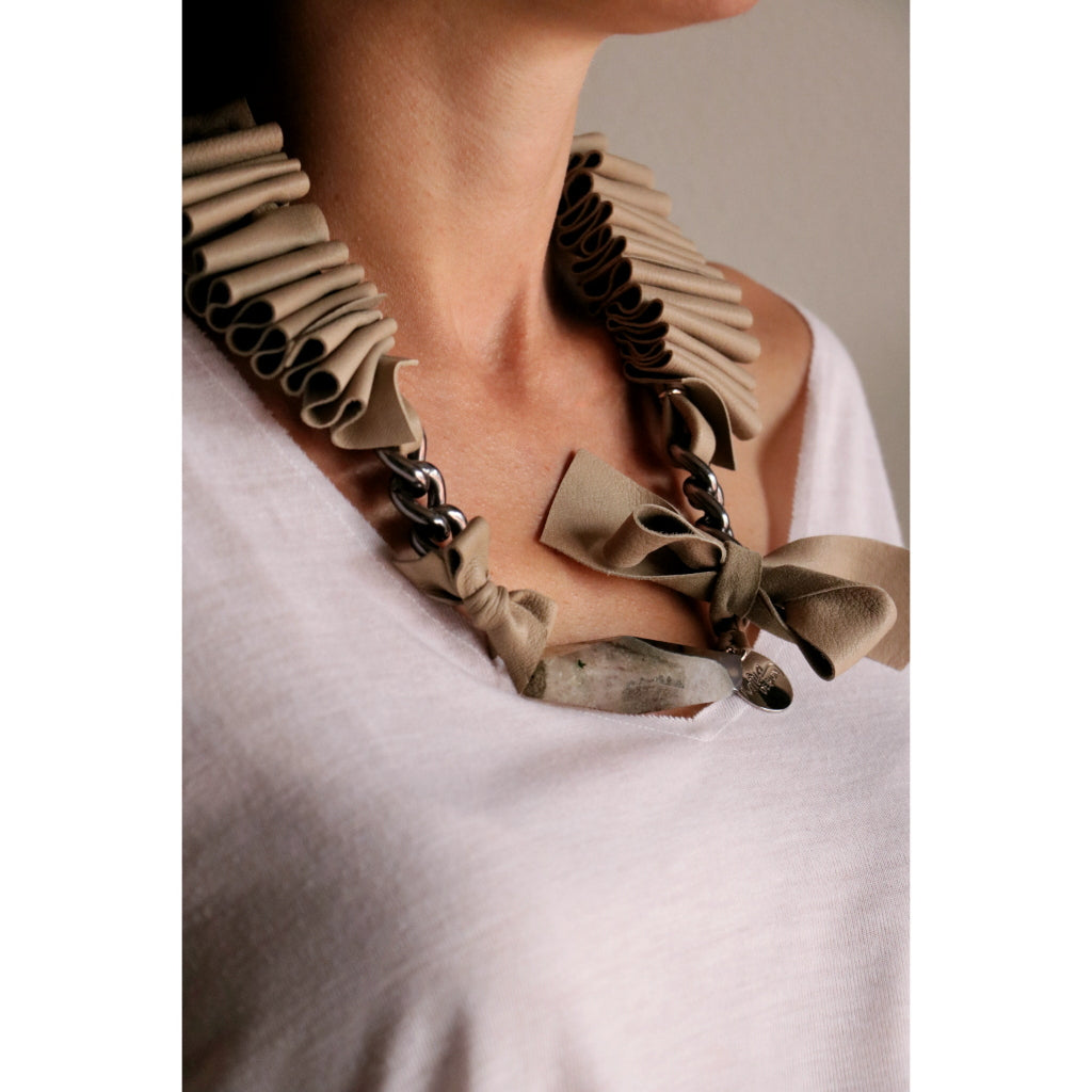 Iva Leather Necklace