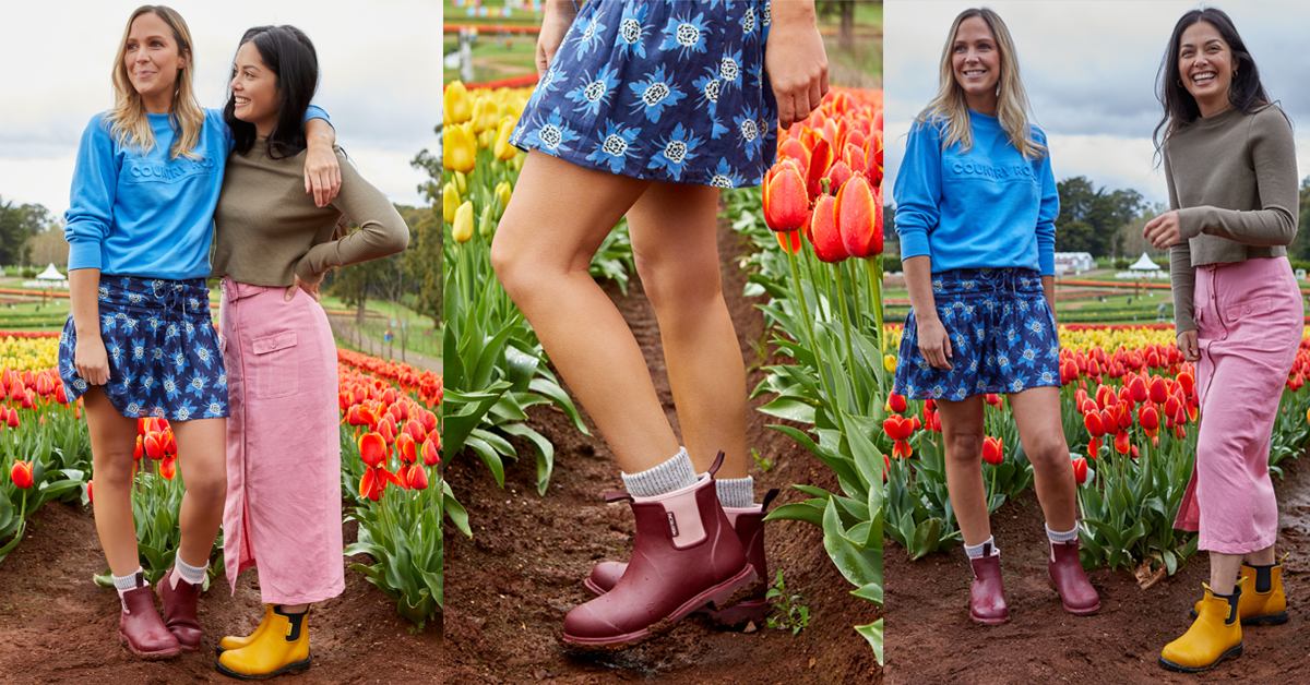 Spring style how to wear rain boots