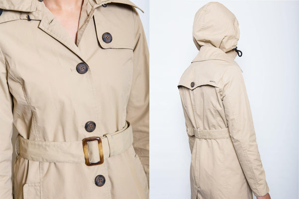 Charlotte Rain Trench // Beige - Merry People