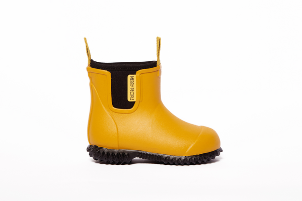Bobbi Kids Gumboot // Mustard Yellow - Merry People