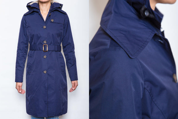 Charlotte Rain Trench // Navy - Merry People