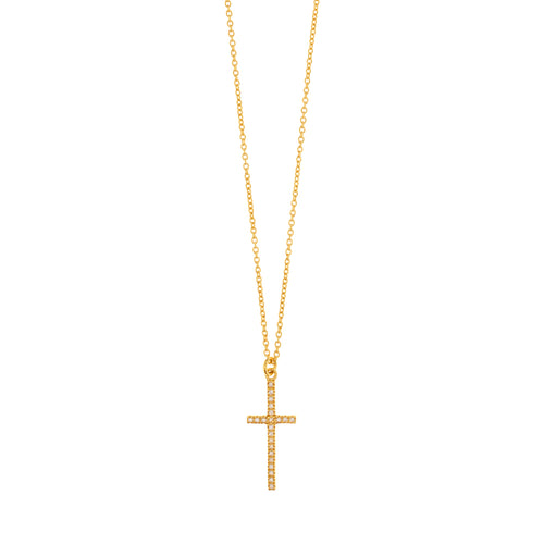 CROSS NECKLACE ZIRCONIA - Wonderfuletta