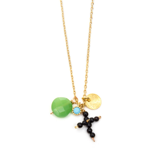 HIPPIE CROSS NECKLACE - Wonderfuletta