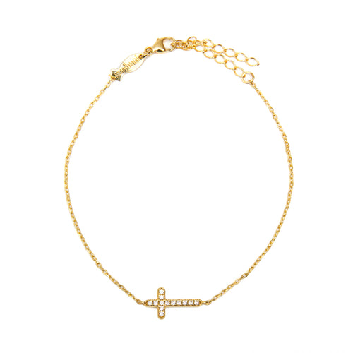 CUBIC ZIRCONIA CROSS - Wonderfuletta