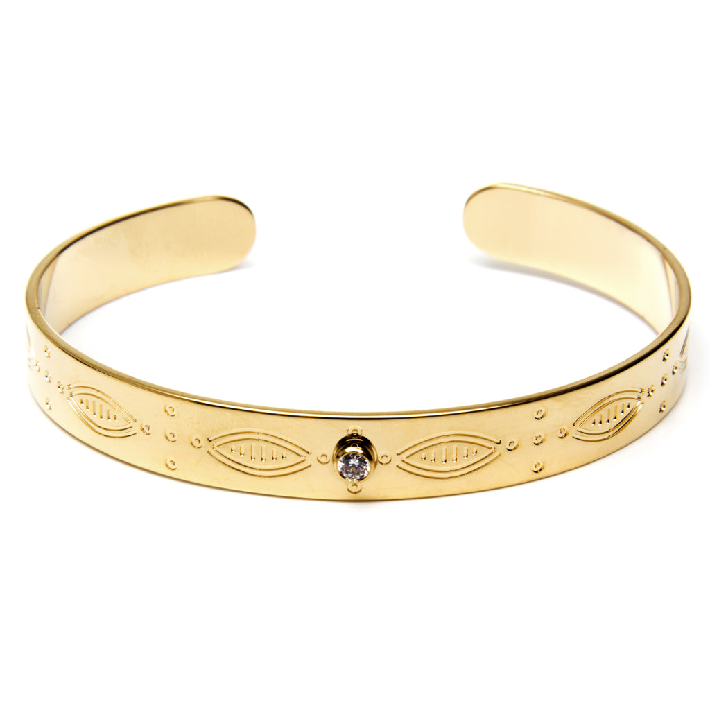 BOHEMIAN BANGLE ONE STONE - Wonderfuletta