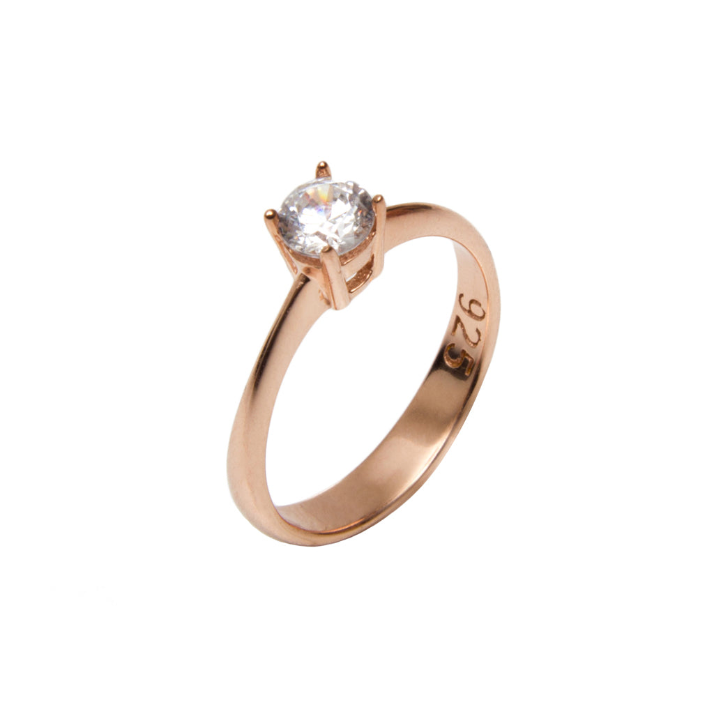 SOLITAIRE RING ROSÉ - Wonderfuletta