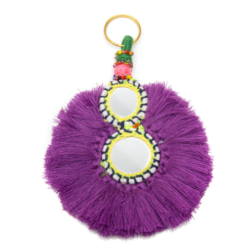 GOOD VIBES KEYCHAIN PURPLE - Wonderfuletta