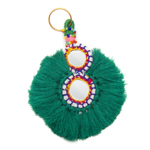 GOOD VIBES KEYCHAIN GREEN - Wonderfuletta