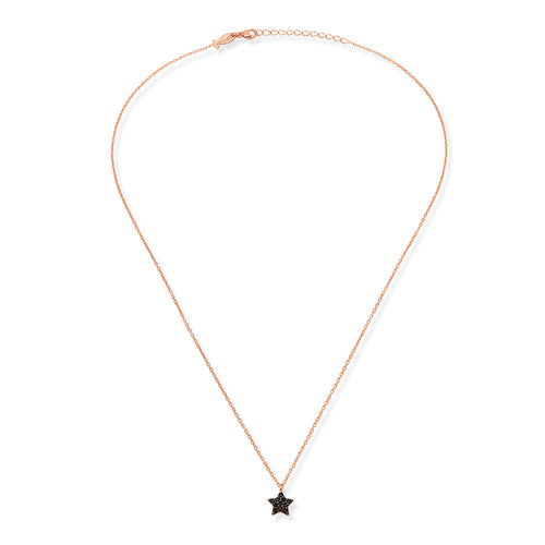 MINI STAR NECKLACE BLACK ZIRCONIA - Wonderfuletta