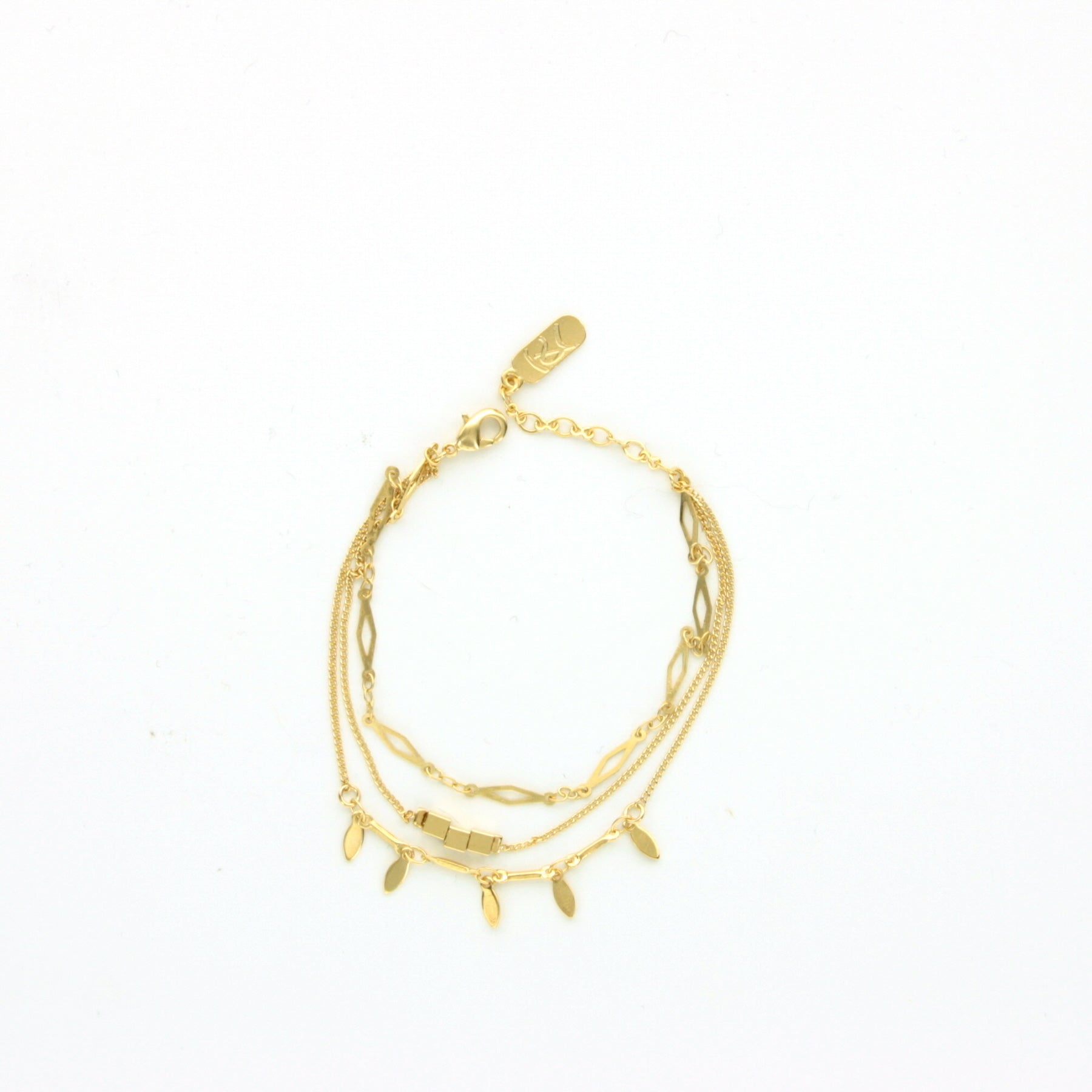 BRACELET TRIO GOLD - Wonderfuletta