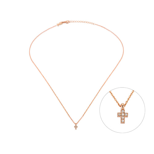 MINI CROSS NECKLACE GOLD - Wonderfuletta