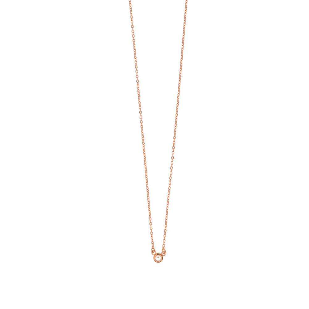 PURE NECKLACE 18K GOLD PLATED ROSÉ - Wonderfuletta