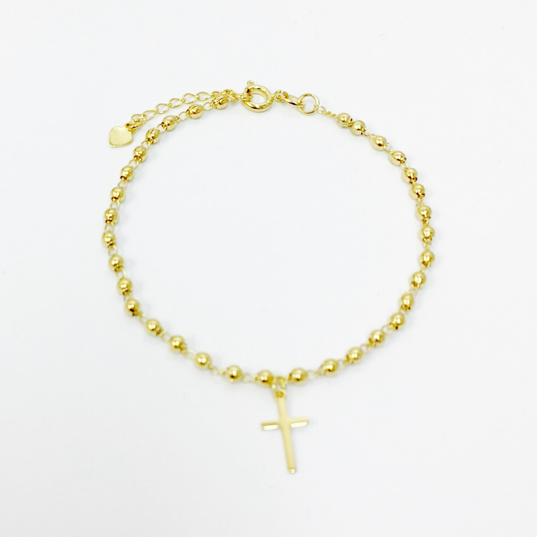 FINE ROSARY CROSS BRACELET - Wonderfuletta