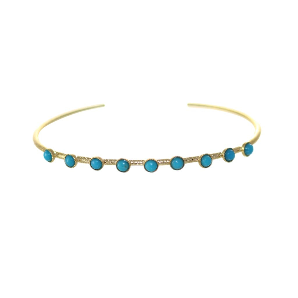 THIN BANGLE TURQUOISE STONES - Wonderfuletta
