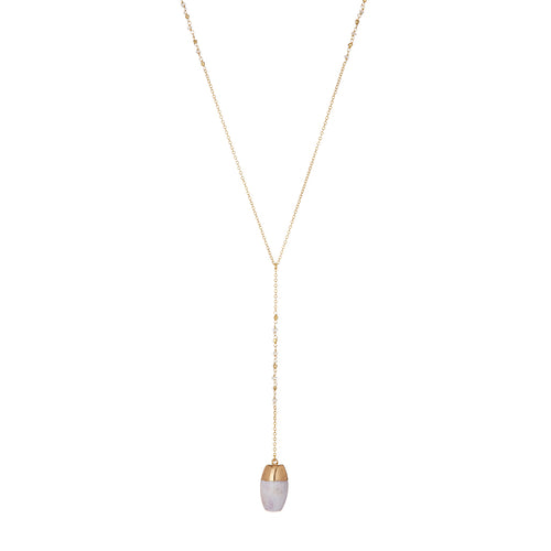 LONG NECKLACE ACHAT DROP - Wonderfuletta