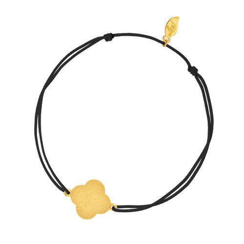LUCKY CLOVER DISC CORD BLACK - Wonderfuletta