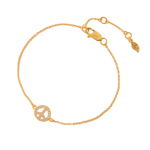 PEACE BRACELET ZIRCONIA - Wonderfuletta