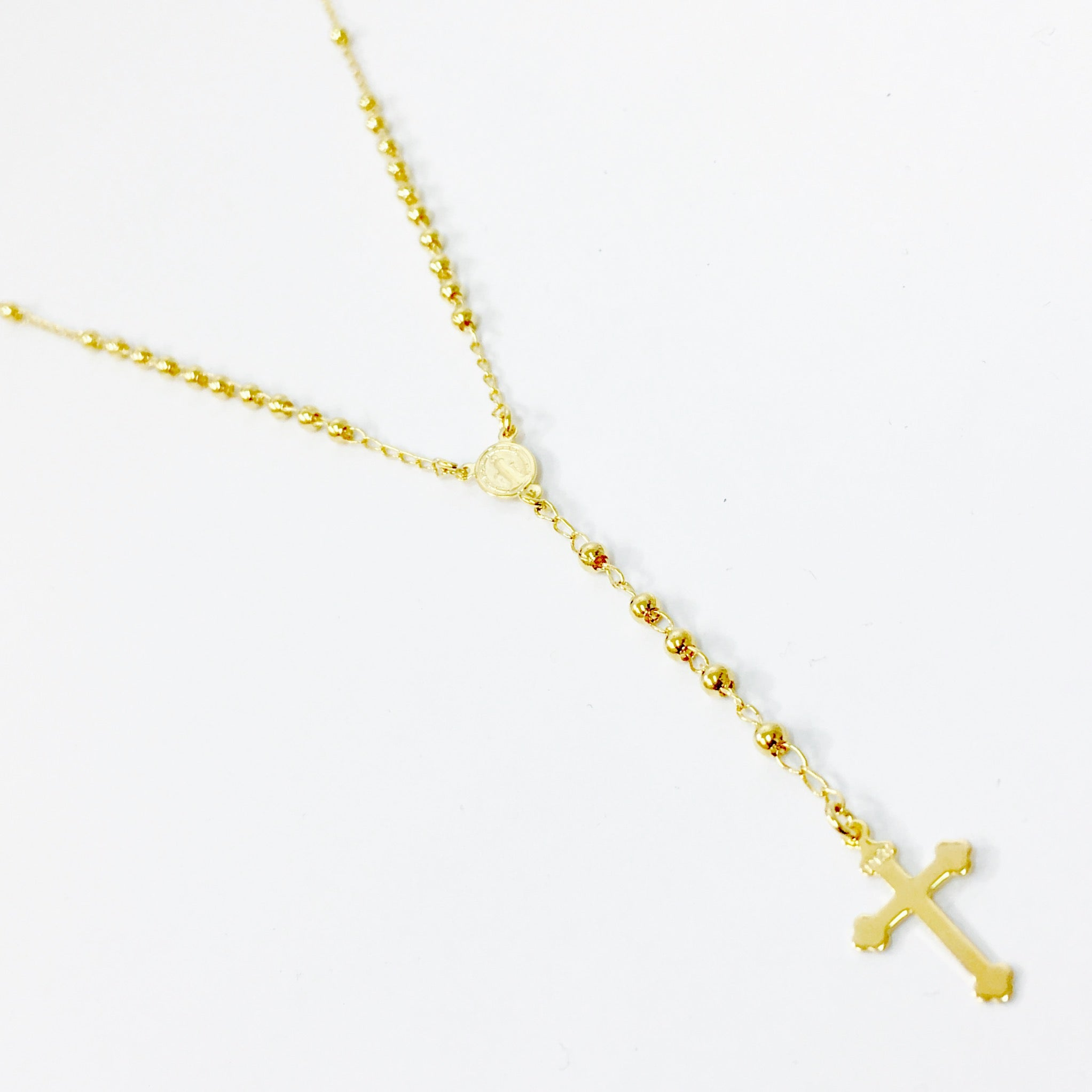 GOLD ROSARY NECKLACE - Wonderfuletta