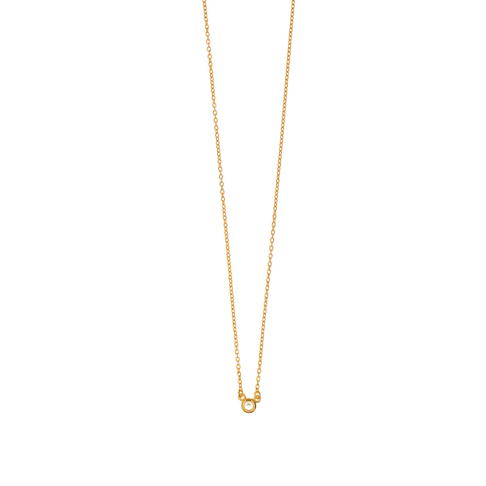 PURE NECKLACE 18K GOLDPLATED - Wonderfuletta