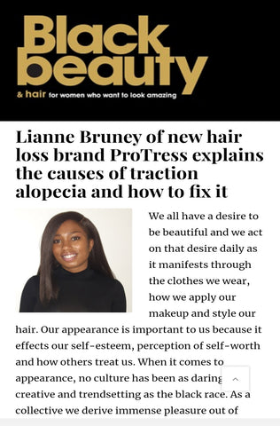 ProTress feature in Black Beauty and Hair Magazine