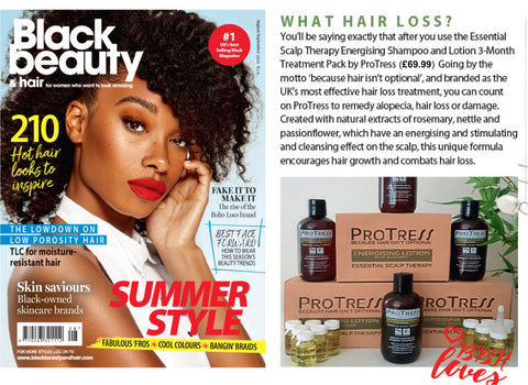 ProTress Hair Care Press Feature in Black Beauty and Hair Magazine