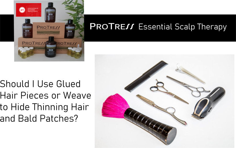 Should I Use Glued Hair Pieces or Weave to Hide Thinning Hair and Bald Patches?