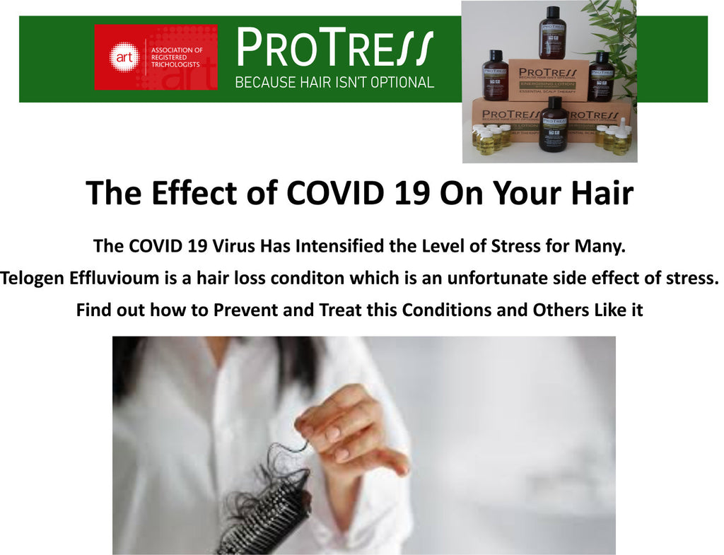 the effect of COVID 19 on your hair