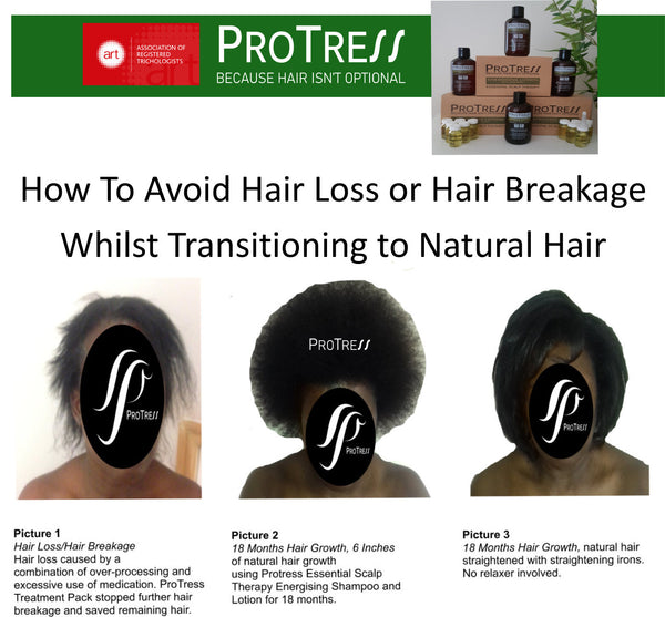 How To Avoid Hair Loss or Hair Breakage Whilst Transitioning to Natural Hair