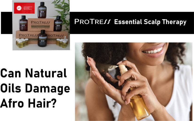 can natural oils damage afro hair