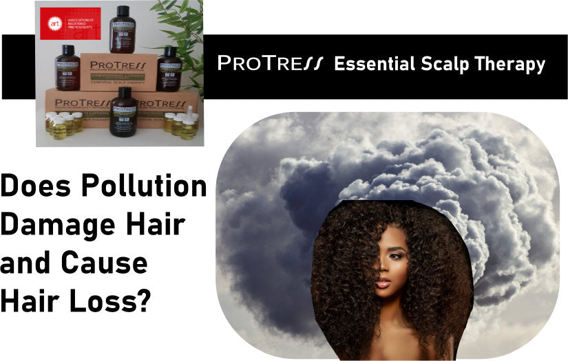 does pollution damage hair and cause hair loss?