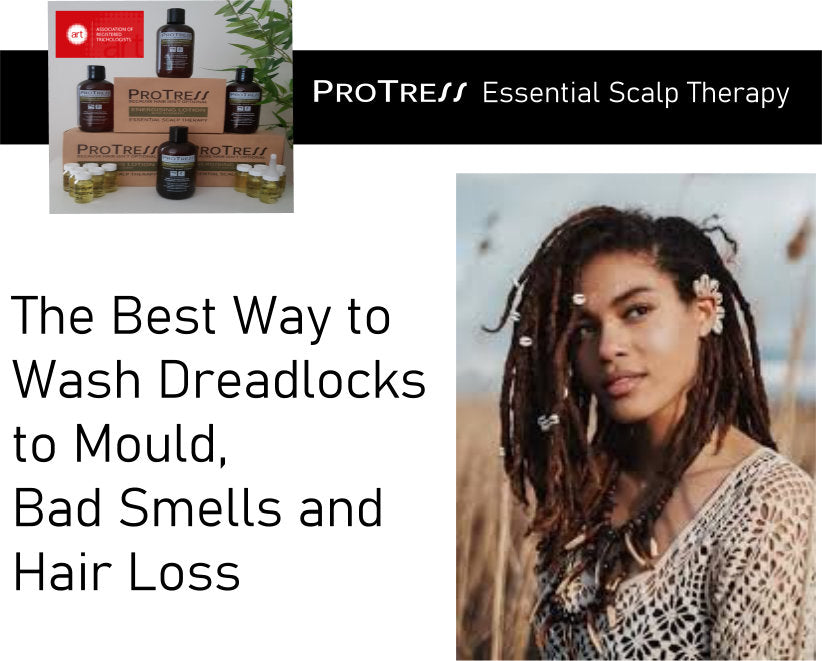 best way to wash dreadlocks to avoid mould, bad smells and hair loss