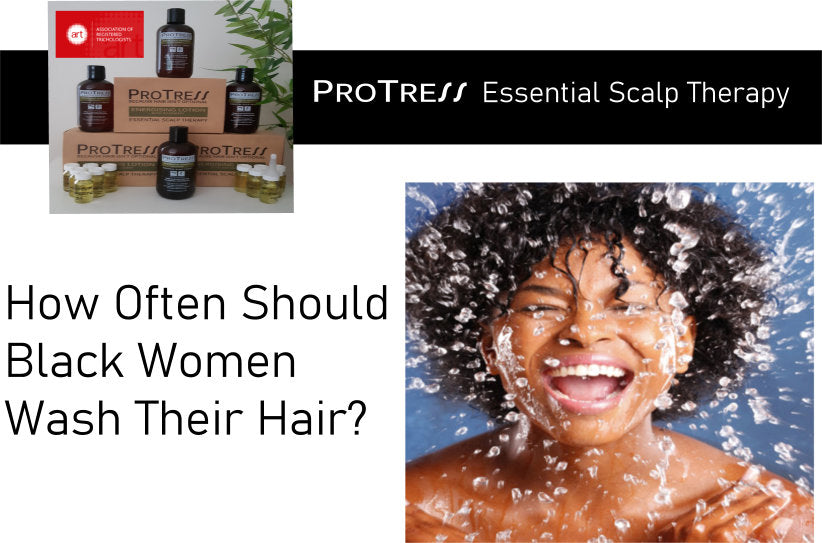 how often should black women wash their hair?