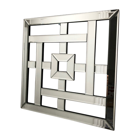 Geo Mirrored Wall Art Mirror Geometric Glass Bevelled Art Decor 40 X 4 Surrey Hills Designs